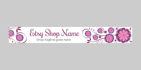 Etsy Shop Banners - Etsy Banners - Floral Etsy Banners - Purple Etsy Shop Banners - Purple Etsy Bannes - Floral 10