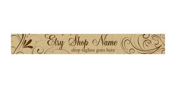 Etsy Banners  - OOAK  - Vintage 2 - Shop Header Banner