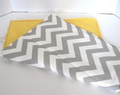 Grey Chevron and Yellow Changing Pad -  Or Custom To Match Your BagEnvy HandBag