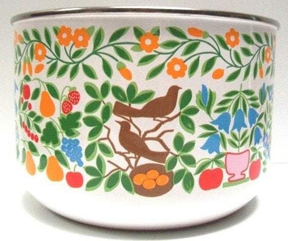 Mid Century Danish ModernEnamel Bowl