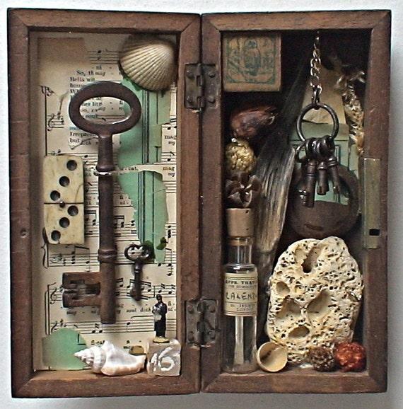 assemblage art - 'the owl sanctuary'