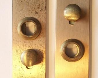 Small Vintage Brass Door Escutcheons