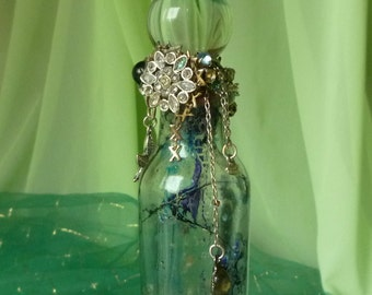 Abstract Art Mystic Incantation Glass Bottle by mystic2awesome