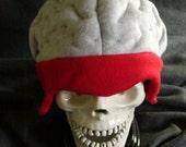 Exposed Brain Fleece Hat