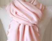 Pale Pink.....Ruffled Scarf