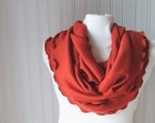 Pumpkin Spice Infinity Scarf....Ruffled....Fall Fashion