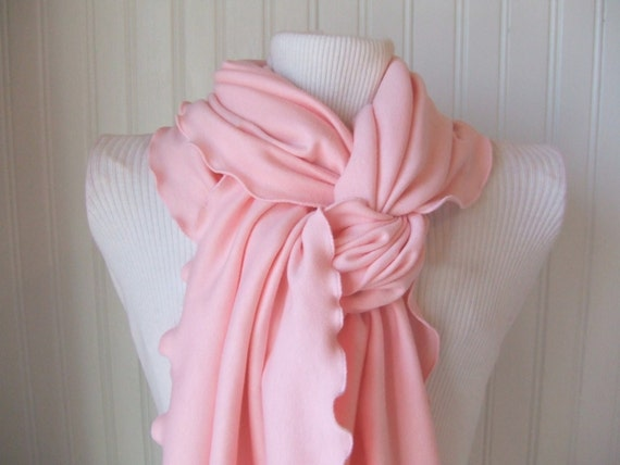 Pink Frosting Ruffle Scarf
