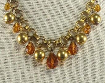 1930's  Art Deco Topaz Briolette Fringe Necklace
