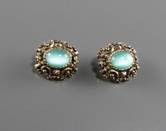 1970's SARAH COVENTRY CZARINA Aquamarine Earrings