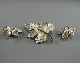 """1970's SARAH COVENTRY """"Nature's Choice"""" BROOCH Earring Set"""