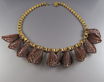 1930's Art Deco Celluloid Fringe Necklace