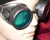 Steampunk victorian Goggles Glasses AVIATOR cyber gothic lenses-----Time Travel Crazy Scientist's Oculo-Vision Tool