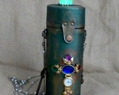 Steampunk TESLA bulb  New Year pocket watch necklace pendant  Victorian Clutch Purse Gothic Pirate Victorian  BOX pocket watch parts