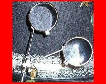 Steampunk Magnifying Lens Glasses Loops Goggles-- Time Travel Crazy Scientist's Oculo-Vision Tool
