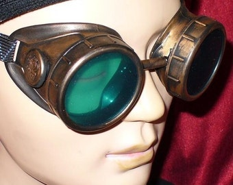 Steampunk Goggles Glasses AVIATOR cyber gothic lenses-----Time Travel Crazy Scientist's Oculo-Vision Tool