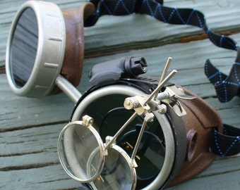 Steampunk Time Travel Crazy Scientist's Oculo-Vision Tool--brownsilver