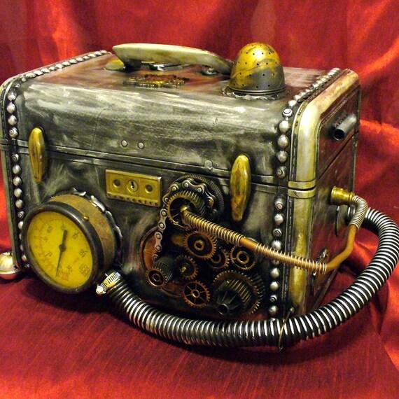 Steampunk Purse Trunk Mad Scientist's Instruments Trunk