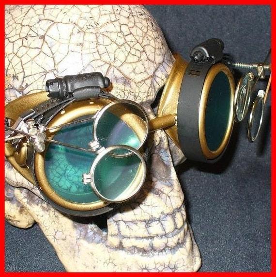 Steampunk Goggles Glasses AVIATOR by oldjunkyardboutique ...