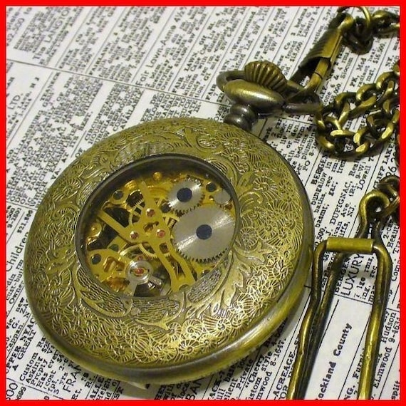 Steampunk Victorian Imperial Pocket Watch---GREAT GIFT
