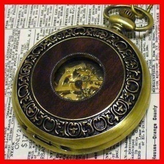 Steampunk Victorian Jules Verne Pocket Watch---GREAT GIFT