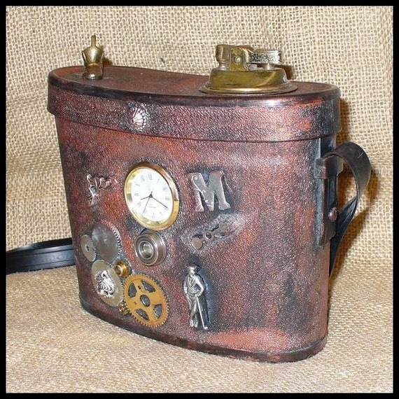Clutch purse gothic : Steampunk magical clutch purse gothic pirate victorian box