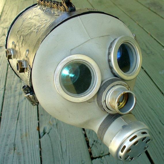 Steampunk SCARY Clutch Purse Gothic Pirate Victorian  BOX gas mask