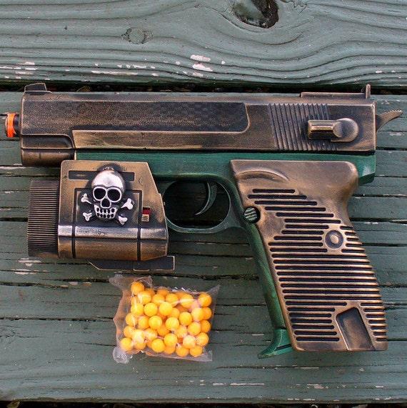 Steampunk cyber shot gun Victorian sci-fi pirate BB Airsoft  Spring GUN---ZOMBIE killer