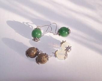 Interchangeable Three Piece Stone Earring Set