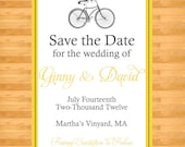 Save the Date - Bicycle Save the date Design