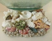 SALE  Beach Decor Shell Pedestal Serving Bowl