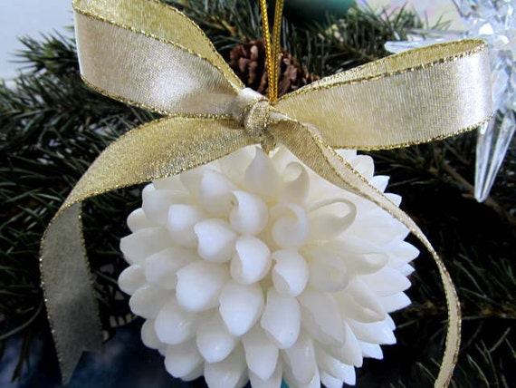 Seashell Decor White Shell Kissing Ball