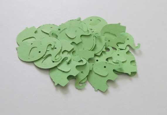 Elephant Confetti Diecut 55 count-1 inch..perfect for baby showers and invitations