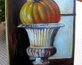 """MiniPrint """"Grand Pumpkin"""" Halloween Art Susan Rios"""