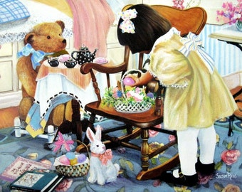 Easter With Teddy MiniPrint