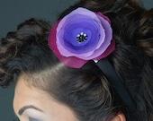 Purple Chiffon Flower Headband for Artists Upfront for Vicki Diane