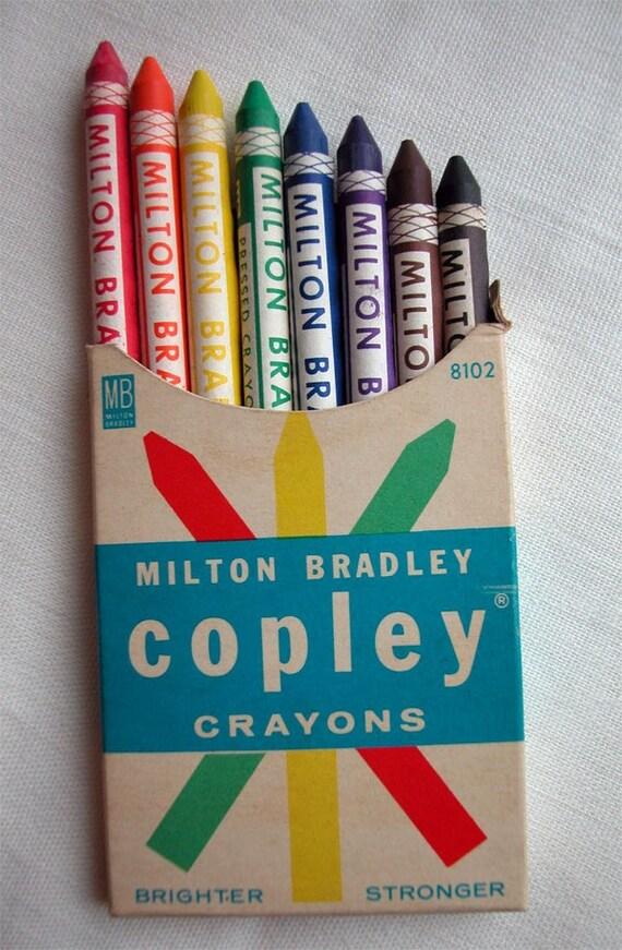 UNUSED Vintage COPLEY CRAYONS by MILTON BRADLEY