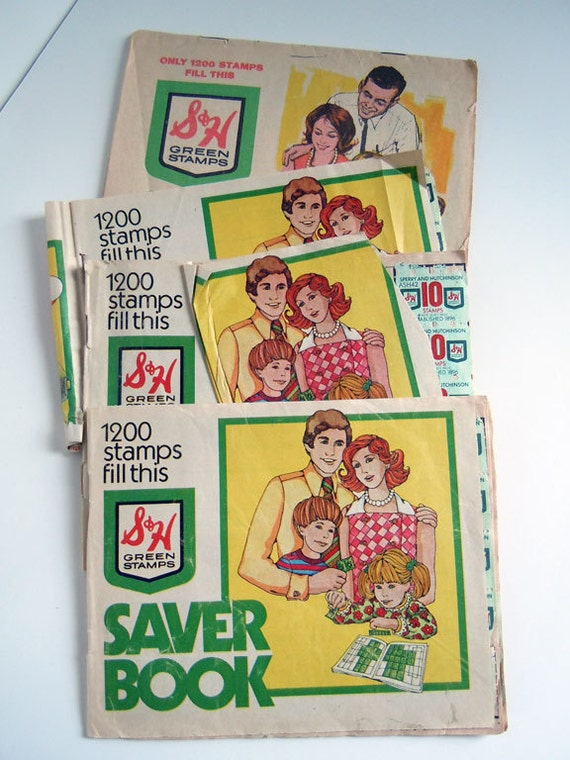 Four Vintage Books of S & H GREEN STAMPS - Sperry and Hutchinson Company