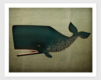 The Barnacle Whale Archival Pigment Print Giclee inches SIGNED