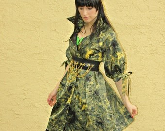 BEST OFFER ACCEPTED Fabulous Authentic vtg maxmara Vibrant Green Billowing Sleeve Bow Ties Princess Trench Coat Xs Sm