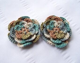 Crocheted flower motif 2.5 inch aspen cotton