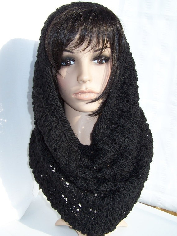 Neckwarmer  plus head cover or simply cowl neck hood for woman teen Free Shipping