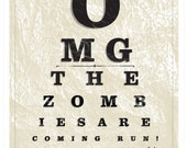 Zombie Eye Chart, Collections Series Limited Edition Art Print