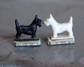 Vintage Tricky Dogs Scottie Magnetic Dogs 1940s