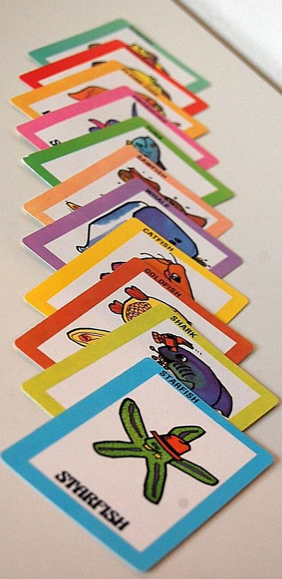 Vintage retro go fish card game 45 cards 1975 for Go fish cards