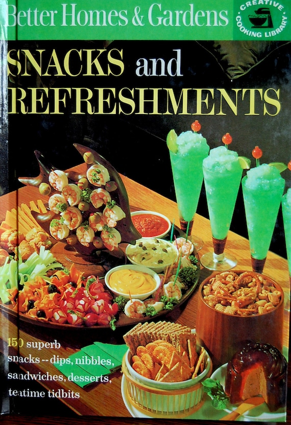 Vintage retro better homes and gardens cookbook 1963 snacks - Vintage better homes and gardens cookbook ...