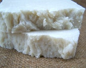 Wake Me Up Sea Salt Soap - Peppermint and Eucalyptus Essential Oil Sea Salt Soap - Handcrafted Hot Process Soap