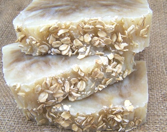 Oatmeal Honey  Soap - Hot Process Soap - Dye & Fragrance Free