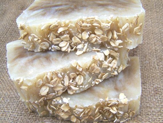 Oatmeal Honey  Soap - Hot Process Soap - Dye & Fragrance Free