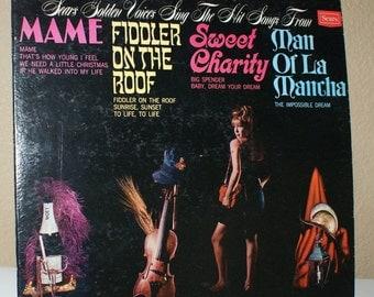 Sears Golden Voices Sing ... Mame - Sweet Charity - Man of La Mancha - Fiddler  Vintage Vinyl 33 rpm LP