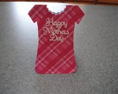 Mothers Day Hand Cut Dress Gift Card Holder